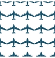 Seamless pattern with blue airplanes vector image