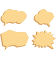 speech bubbles consisting of waffles vector image