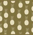 vintage pineapple seamless pattern retro style vector image