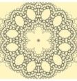 Yellow ornate mandala print vector image