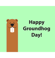 Groundhog day copy space background vector image