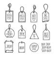 Hand drawn sales tags doodle set vintage vector image