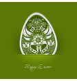 decorative Easter egg label vector image vector image