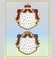 heraldic mantling vector image