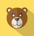 Modern Flat Design Bear Icon vector image