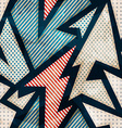 cloth geometric seamless pattern with grunge vector image