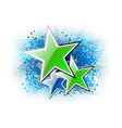 green stars on the blue background vector image vector image