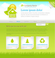 green house web site design template vector image vector image