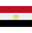 The mosaic flag of Egypt vector image