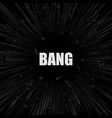 abstract black explosion banner vector image