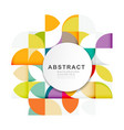 abstract geometric pattern template vector image