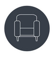 couch home isolated icon vector image