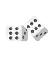 flat style of dice vector image