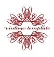 Red vintage curls vector image
