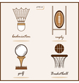 Summer Sports signs vector image
