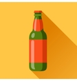beer bottle in flat design style vector image