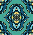 Retro Mandala Patterned Background vector image