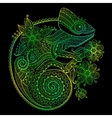 The outline of a green vector image