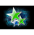 Green stars on the black background vector image