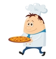 cook with pizza vector image
