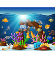 diver under the sea vector image