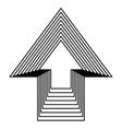 arrow up icon design vector image
