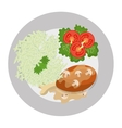 Delicious food and gastronomy graphic isolated vector image