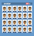 african american male different emotion set vector image