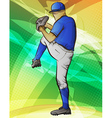 Baseball Pitcher vector image