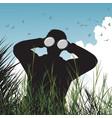 bird watcher vector image