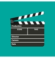Black opened clapperboard Movie clapper board vector image