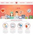 Cardiology Flat Page vector image