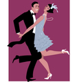 Charleston dancing vector image