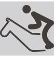 equestrian icon vector image