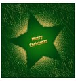 Green Christmas Star vector image