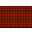 Red green check seamless background vector image