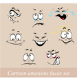 emotions faces set vector image vector image