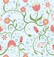 Spring is coming on blue background vector image