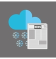 weather report in the newspaper vector image