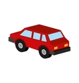 red car coupe icon design vector image