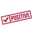 Positive rubber stamp vector image