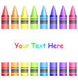 frame with colorful crayons vector image vector image