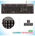 3d Classic Keyboard vector image