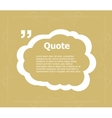 Quotation Mark Speech Bubble Quote sign icon vector image vector image
