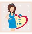 Its A boy - pregnant woman card vector image