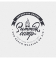 Summer Camp - badge icon poster label print vector image vector image