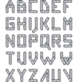 construction set alphabet vector image