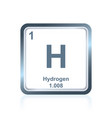 chemical element hydrogen from the periodic table vector image