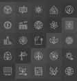 green eco energy icons vector image