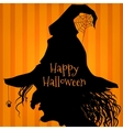 Halloween witch purple vector image